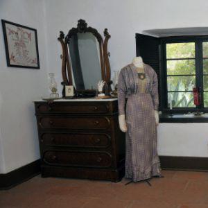 interior of bedroom at Serrano Adobe, Heritage Hill Historical Park