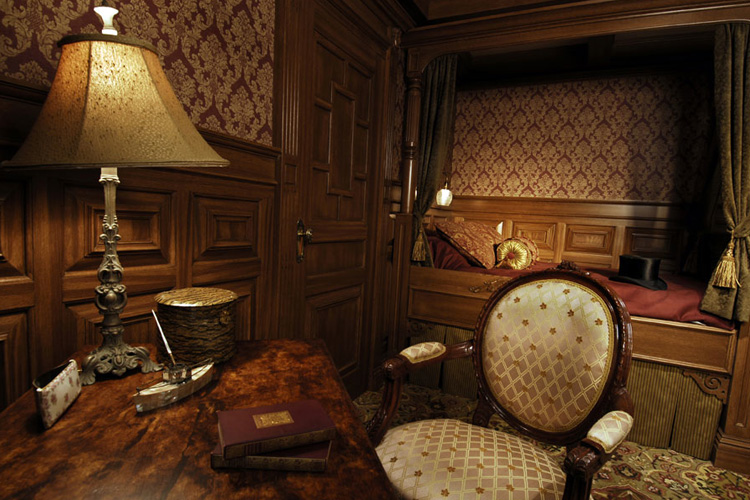 Recreation of a cabin aboard the Titanic