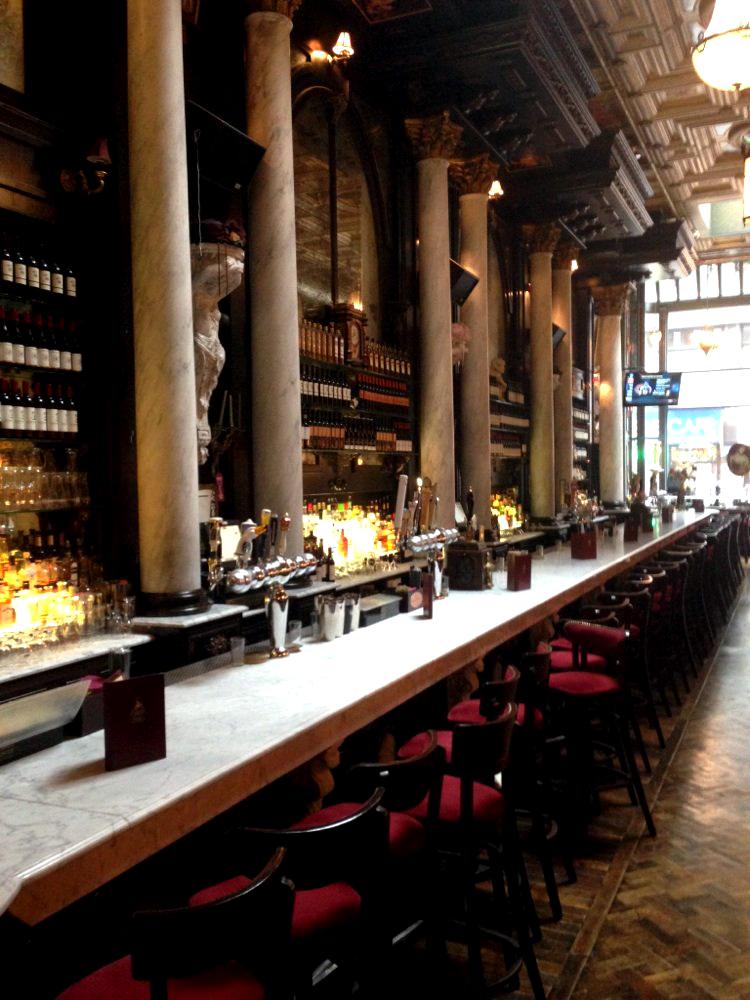 Lillie's Victorian Establishment - bar with marble columns