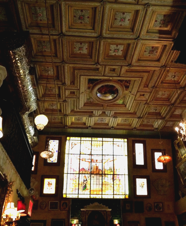 Lillie's Victorian Establishment - embossed ceiling