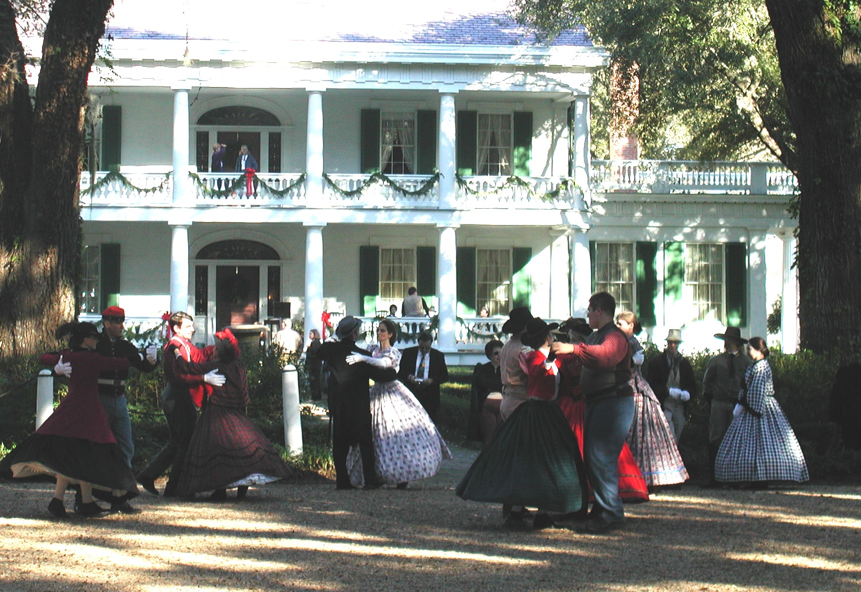 Christmas celebration at Rosedown Plantation