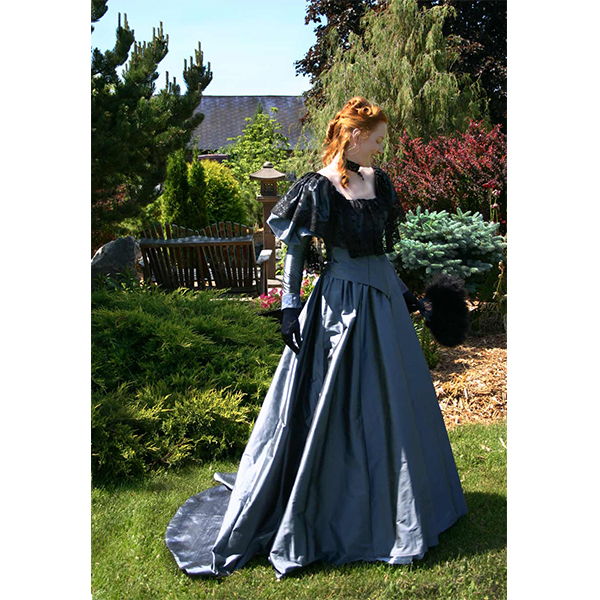 Sophronia Edwardian Gown in the garden