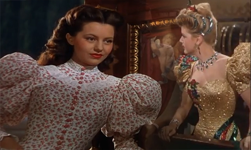 "Cyd Charisse and Angela Lansbury in ""The Harvey Girls"""
