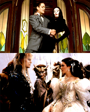 family Halloween fun movies - Addams Family and Labyrinth
