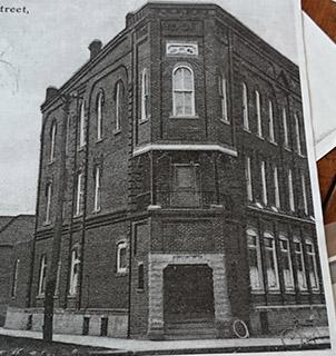 Facade circa 1910, with Odd Fellows renovation