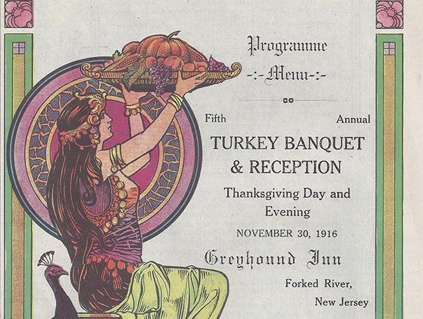 1916 Greyhound Inn Thanksgiving menu - short