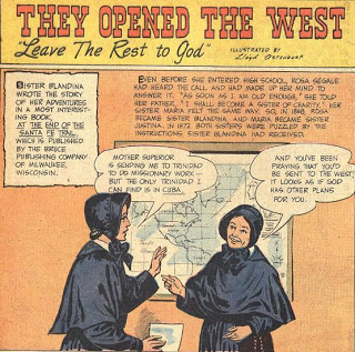 Sister Blandina Segale's comic book page