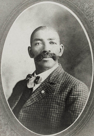 Photographic portrait of Bass Reeves