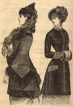 two winter coat styles of the Victorian era