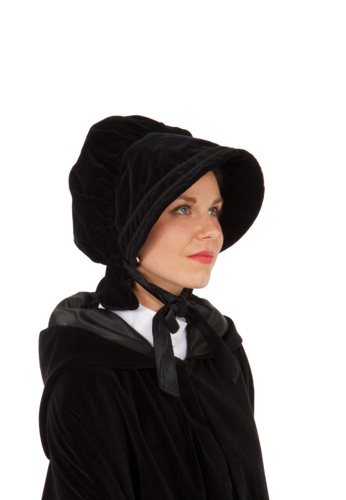 Dickens Victorian Velvet Bonnet