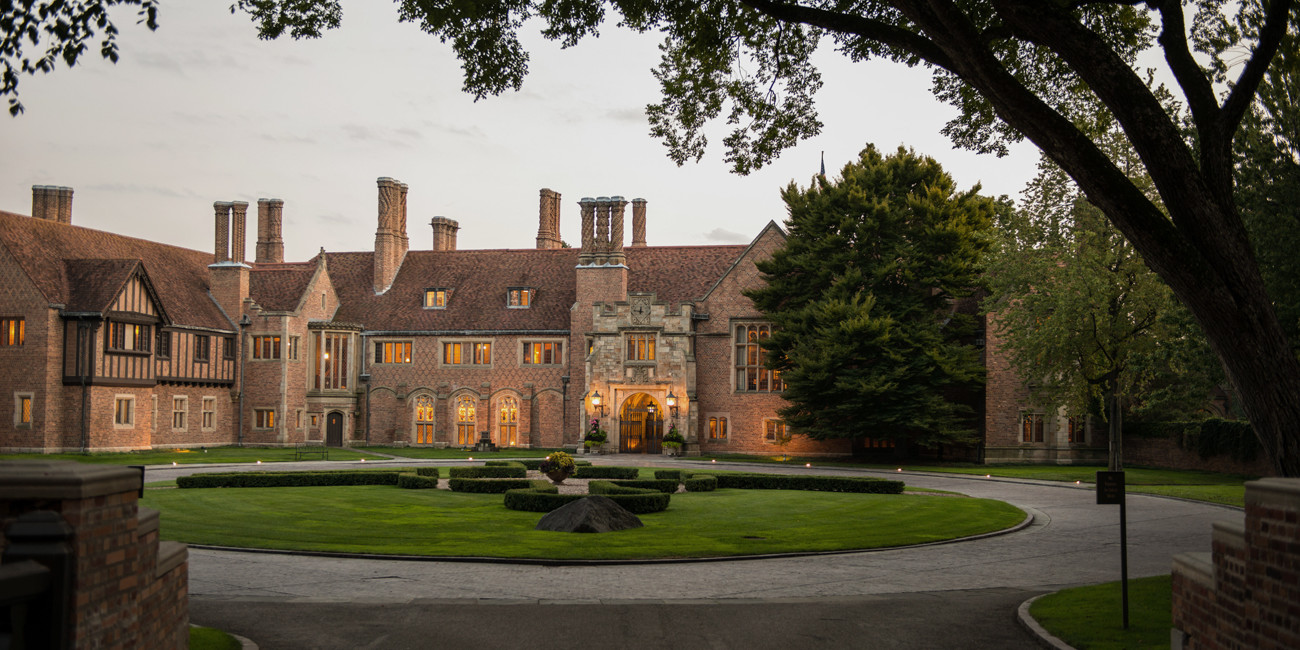 Exterior of Meadow Brook Hall