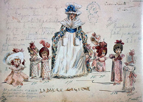 original children's costume designs for the Nutcracker
