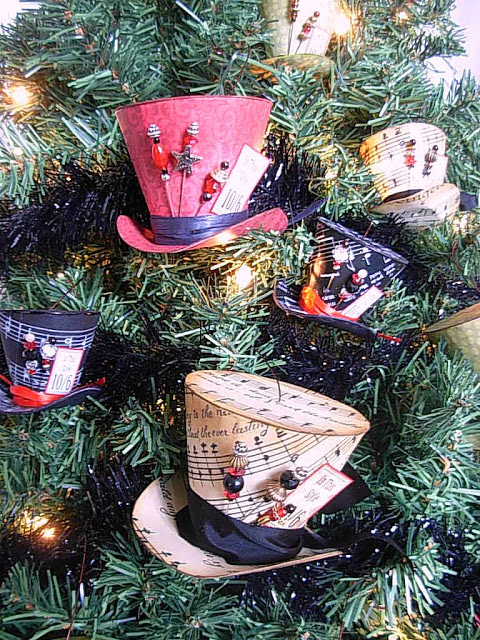 Steampunk top hat Christmas tree decoration