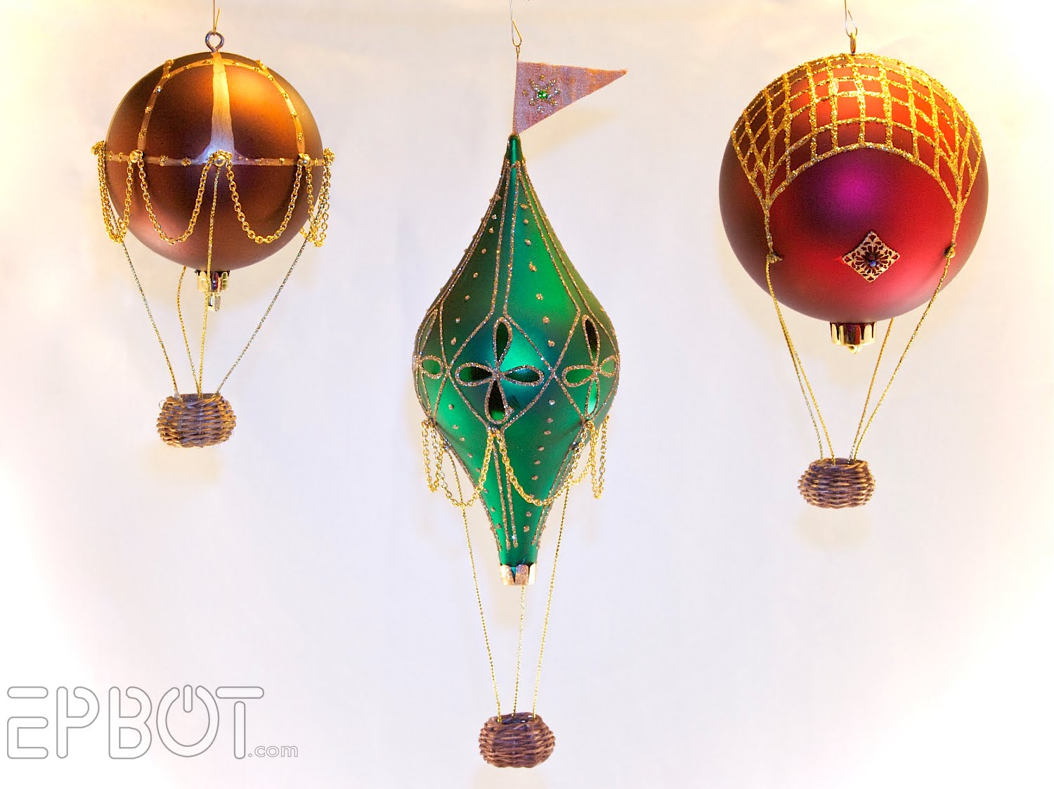 DIY hot air balloons ornament