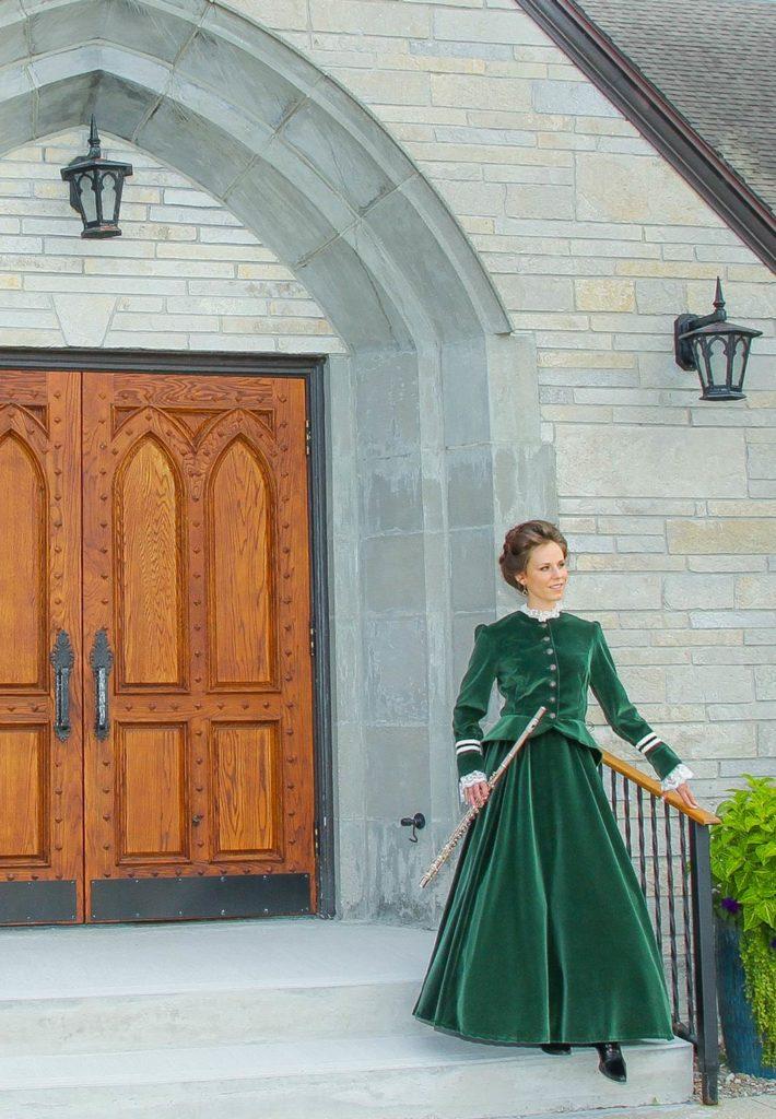 Iris Victorian Velvet Suit