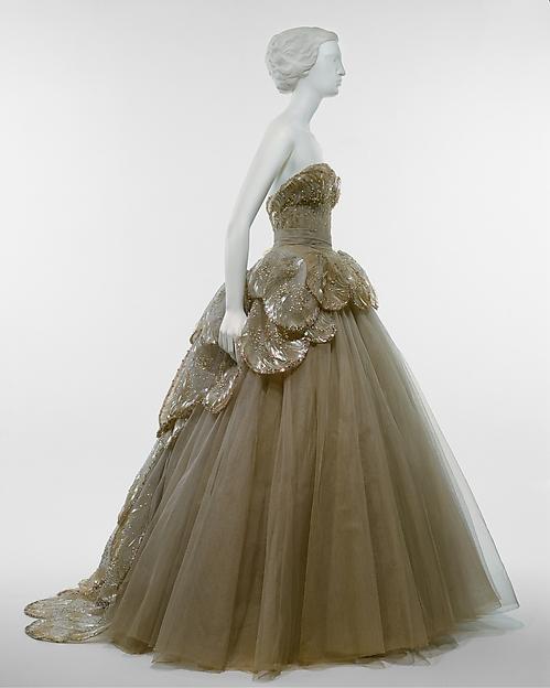 """Venus"" by Christian Dior, fall/winter 1949-1950, Gift of Mrs. Byron C. Foy, 1953, Metropolitan Museum of Art"