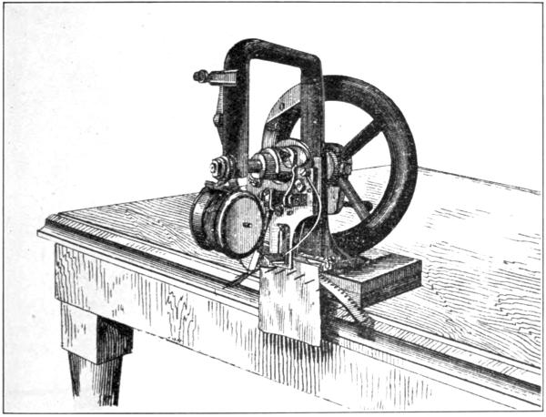 drawing of first sewing machine by Elias Howe