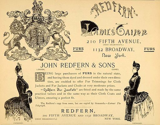 John Redfern Ad 1880s