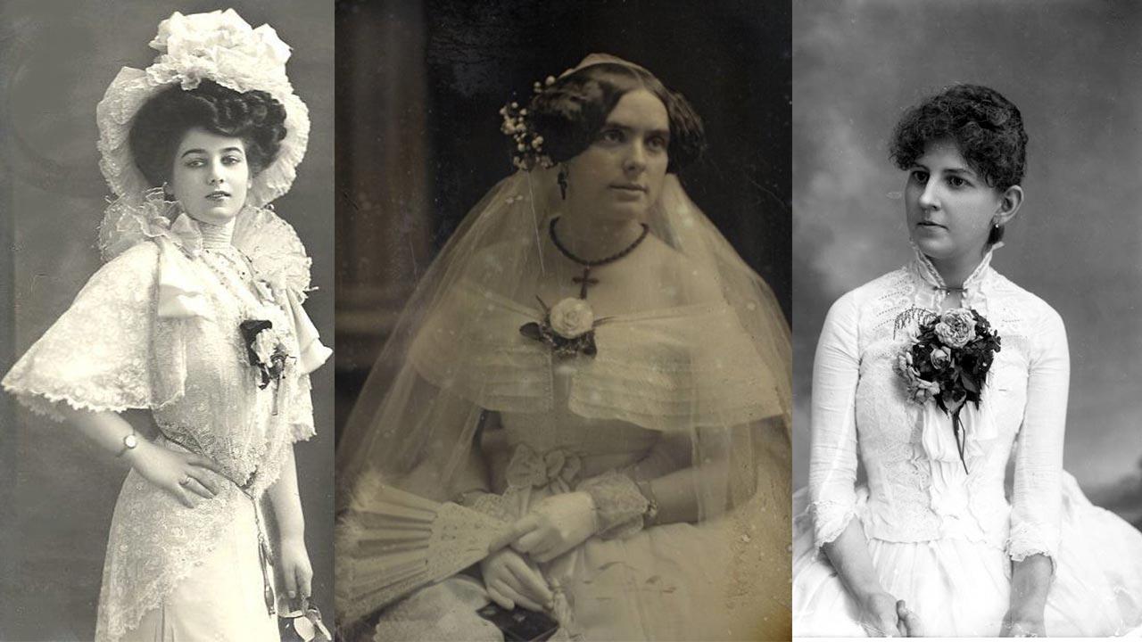 Victorian corsage with bouquet de corsage