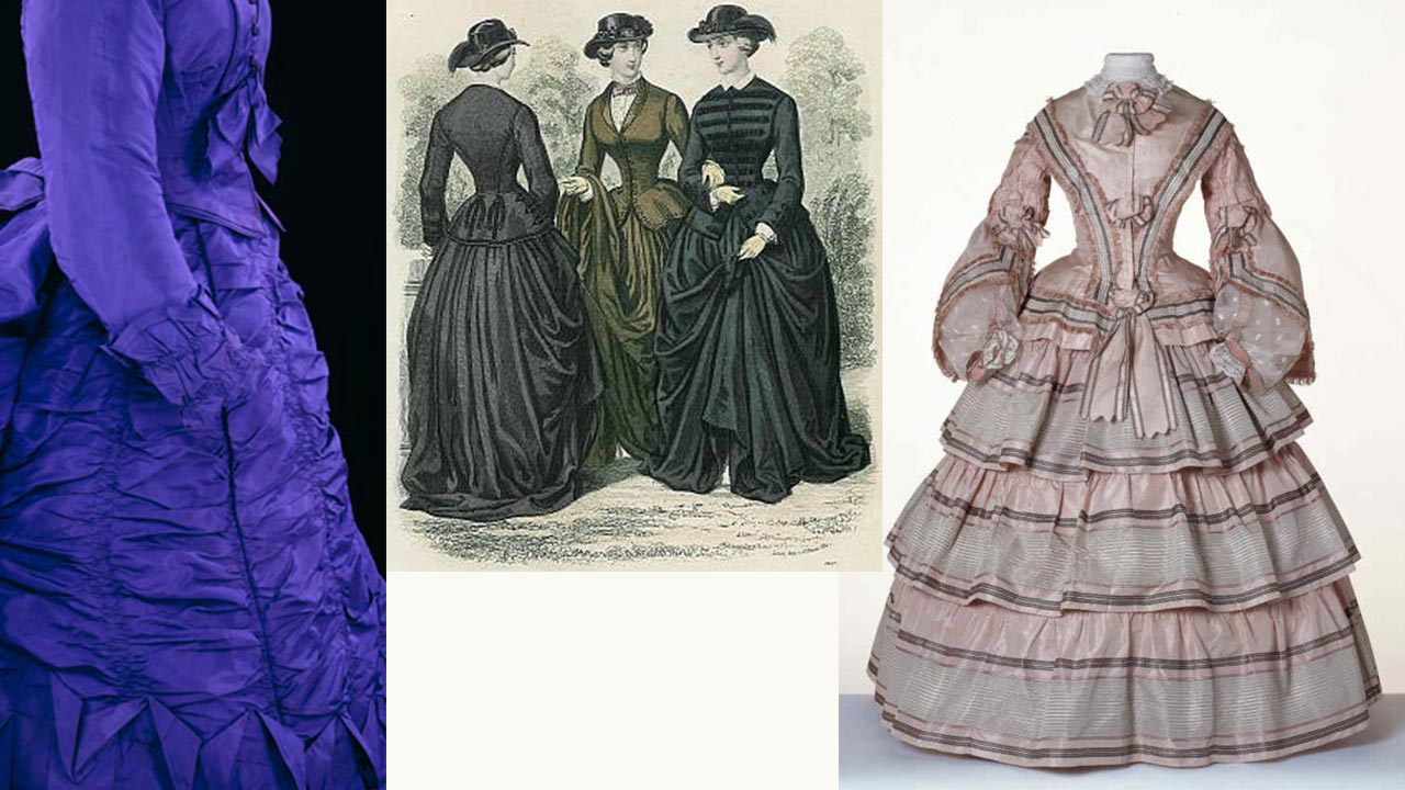 ruffled dresses in the 19th century