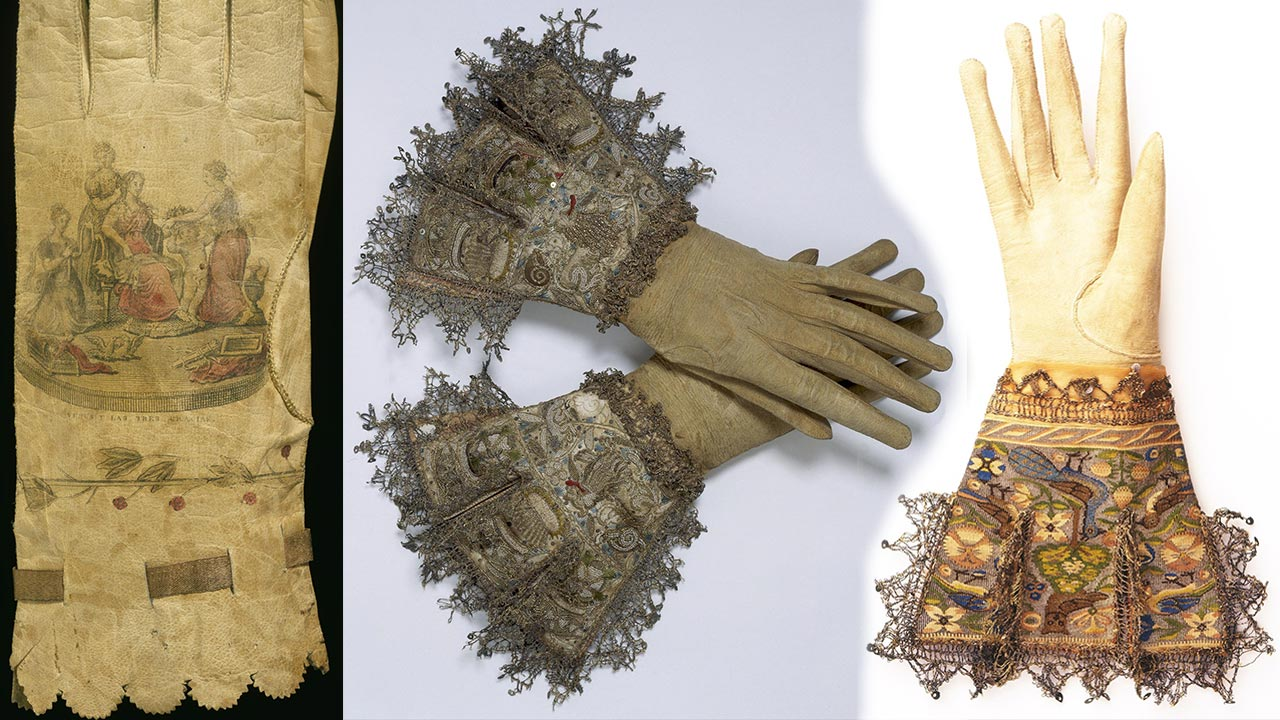 Gloves - fashion accessory of royalty and nobility