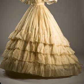 ruffled dress 19th century