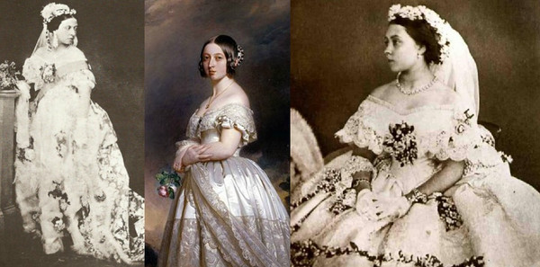 Queen Victoria with corsage