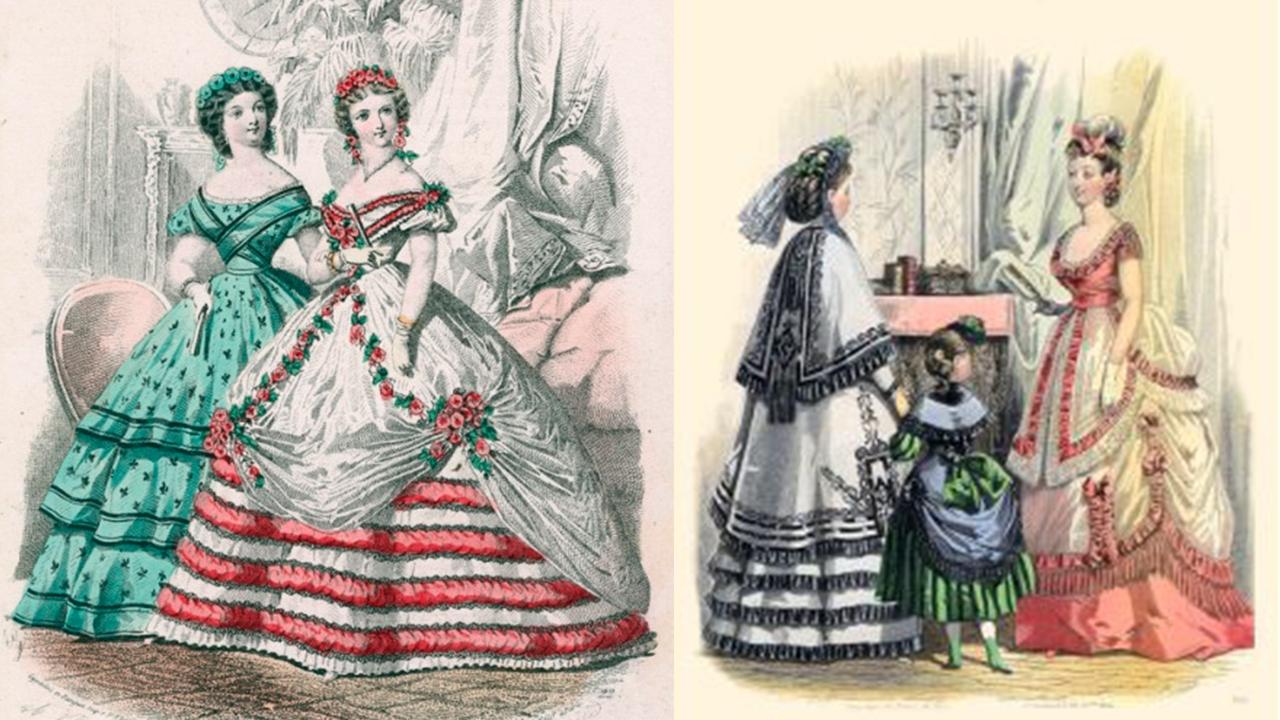 Victorian bodice waistline