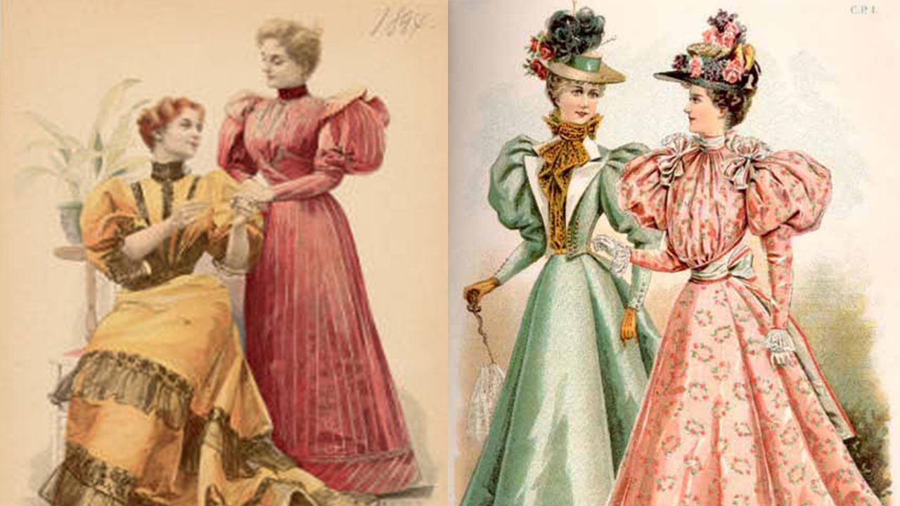 Left illustration, 1890s; Right illustration, 1890s