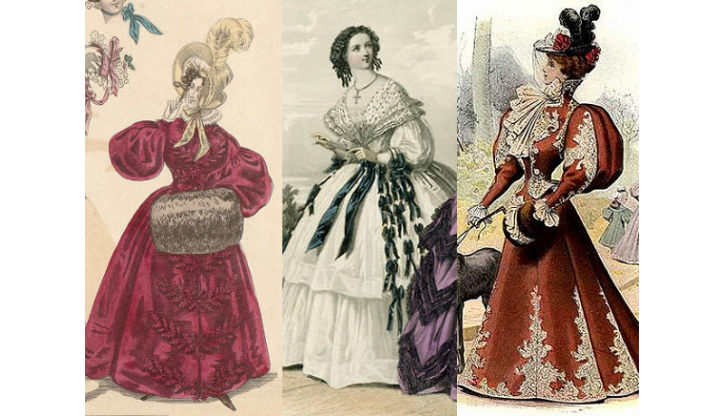 ladies' sleeves latter half of the 19th century