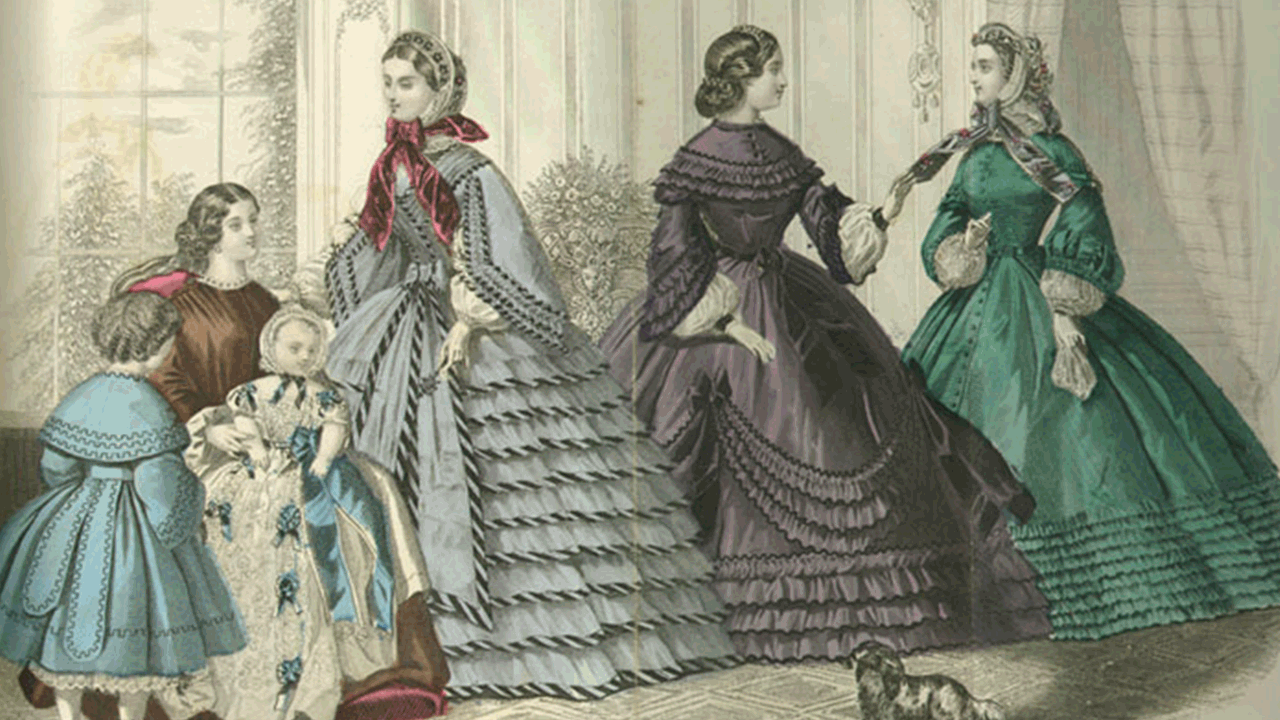 ladies' sleeves of the mid-1800s