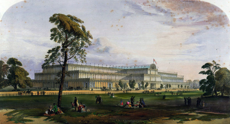 Crystal Palace - glass house housing the Great Exhibition of 1851