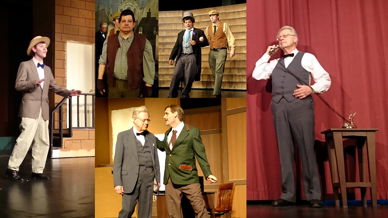 Men's costumes in RCCT's musical production of My Fair Lady