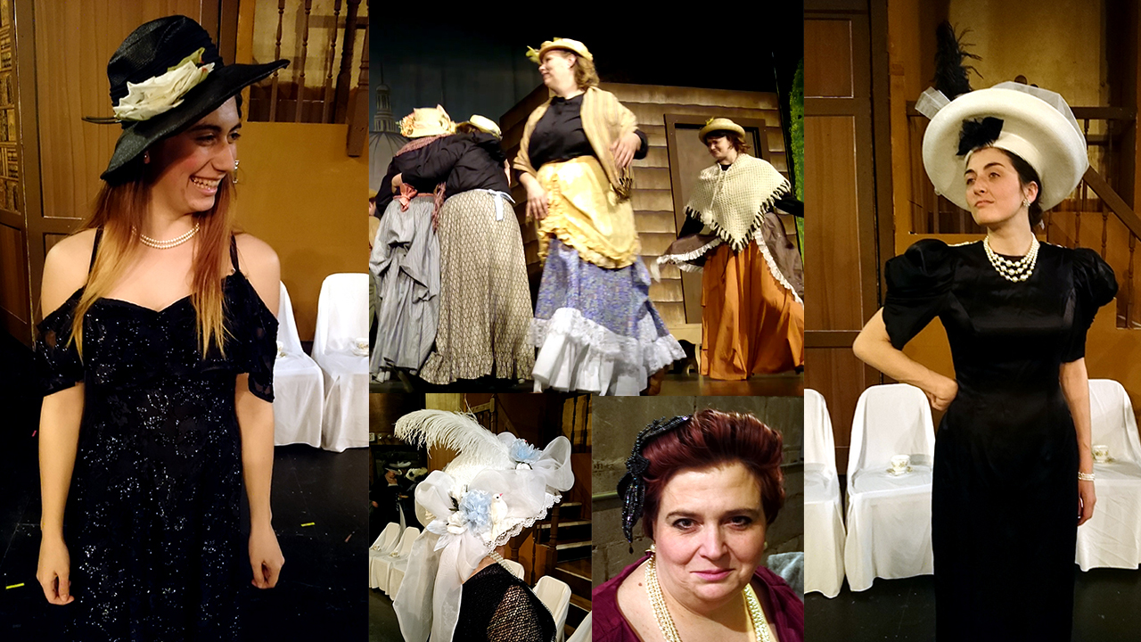 Women's hats and costumes from RCCT's musical production of My Fair Lady