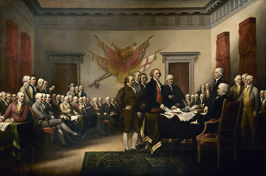 Declaration of Independenc by John Trumbull.