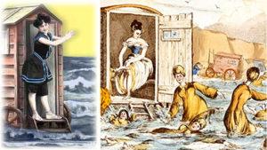 seaside bathing machines