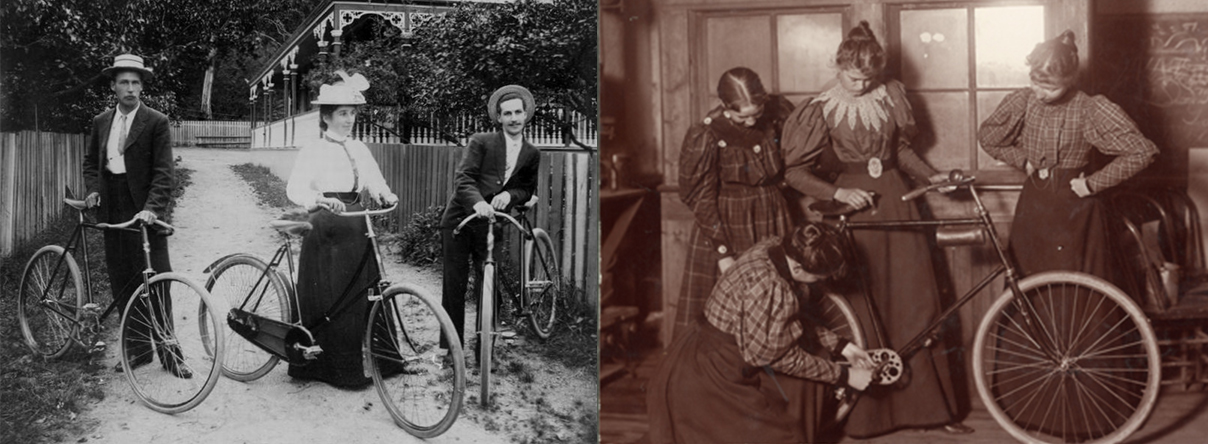 female cyclists 1890s