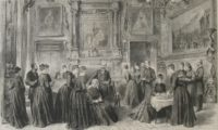 Queen Victoria having tea at Sandringham