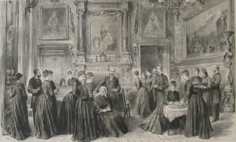 Queen Victoria having tea at Sandringham