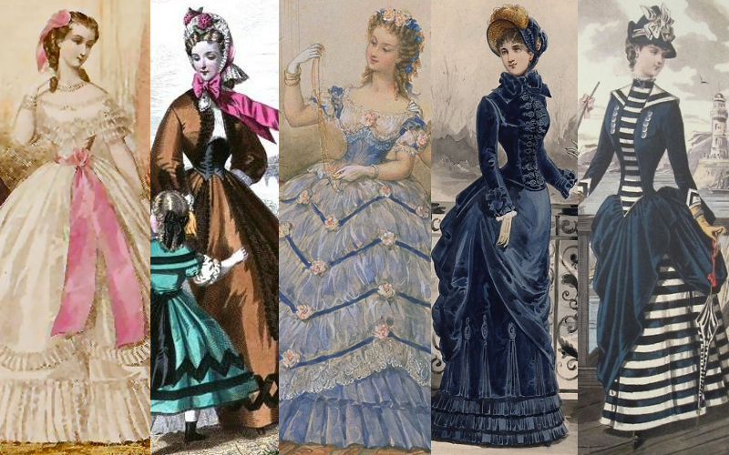 Victorian silhouettes 1860s - 1870s from Kate Tattersall