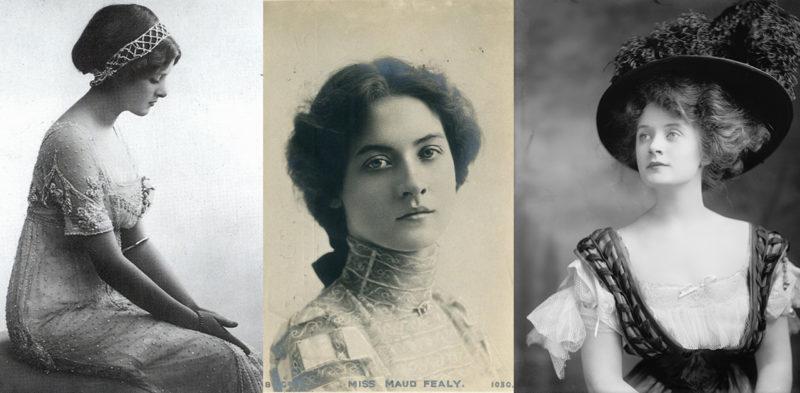 Gladys Cooper, Maude Fealy, Ethel Barrymore; Edwardian beauty