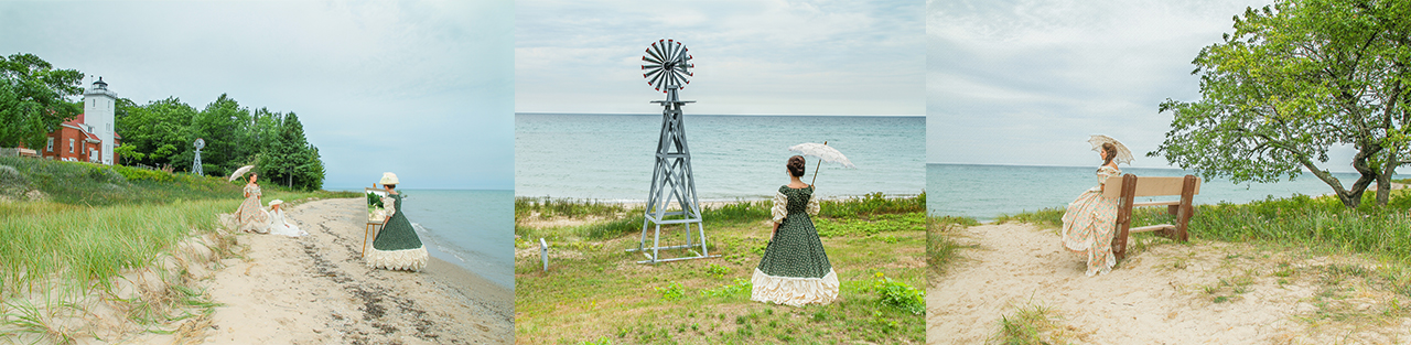 Jennifer Adkins photographer - 40 Mile Point Lighthouse with Recollections' models