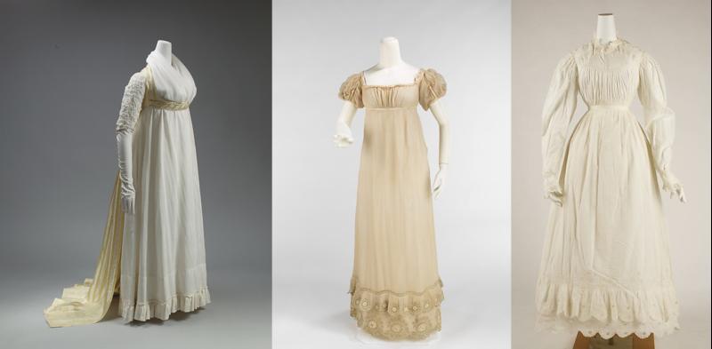 evolution of Regency period women's fashions