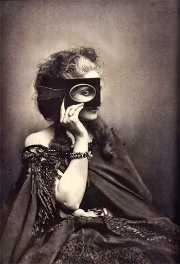 Victorian woman with mask - photo caption contest