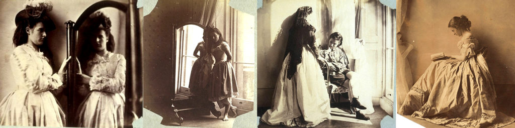 photo collage of Lady Clementina Hawarden's children