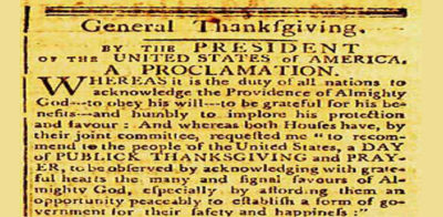 Thanksgiving proclamation