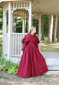 Romantic Era Cotton Dress and Cape