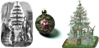 Victorian Christmas trees and ornament