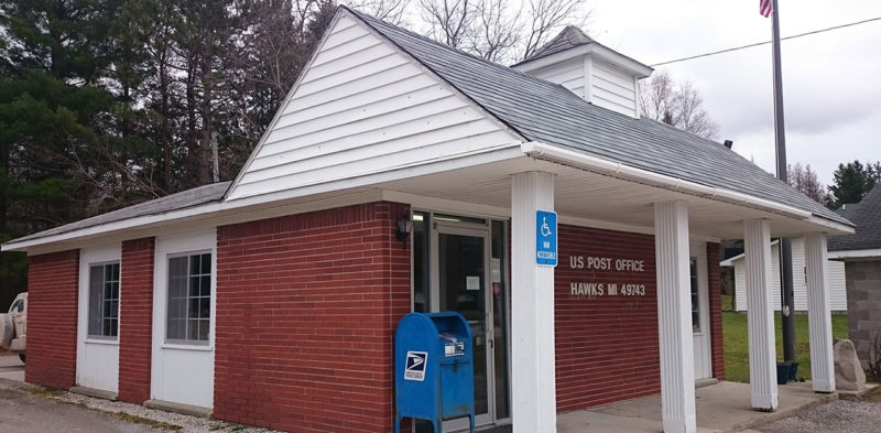 post office in Hawks, Michigan