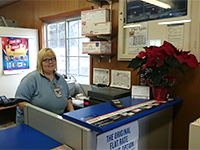 Lucy of the Hawks, Michigan post office